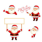 Santa Claus holding a blank sign — Stock Vector