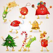 Sada vánoční ikony — Stock vektor