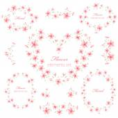 Floral Frame collectie 2 — Stockvector