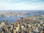 Veduta aerea di new york. — Foto Stock