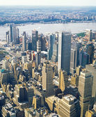 Aerial view of NYC. — Stock Photo