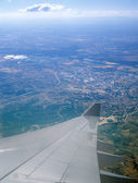 Aerial view from aircraft window. — Stock Photo