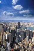 Vue aérienne de new york. — Photo