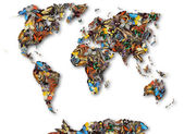 Map of the world of butterflies. — Stock Photo