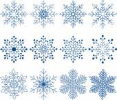 Conjunto de vectores de copo de nieve — Vector de stock