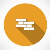 Brick wall icon — Stock Vector