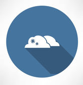 Cloud with snowfall icon — Stockvector