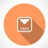 Sms-ikonen — Stockvektor