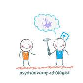 Psychoneuropathologist  speaks with the patient — Stock Vector