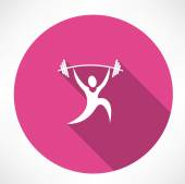 Weightlifter icon — Stock Vector