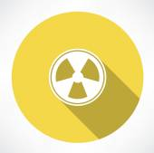Radiation sign icon — Stock Vector