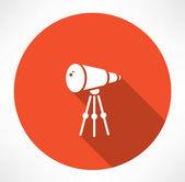 Telescope vector icon — Stock Vector