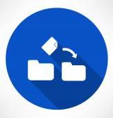 Movement a file icon — Stock Vector