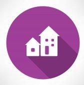 Houses icon — Stock Vector
