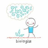 Biologist icon — ストックベクタ