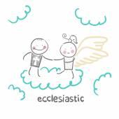 Ecclesiastic icon — Stockvektor