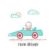 Race driver  — Stock Vector