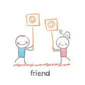Friend icon — Stock Vector