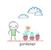 Gardener icon — Stock Vector