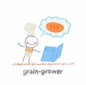 Grain grower — Stock Vector