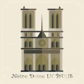 Notre Dame de Paris Cathedral — Stock Vector