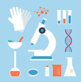 Desktop, medical laboratory — Stock Vector
