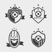 Soccer football  logo — Stock Vector