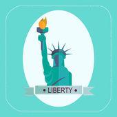 NEW YORK STATUE OF LIBERTY — Stock Vector