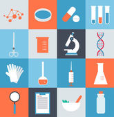 Icons  medical laboratory — 图库矢量图片