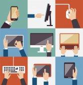 Uppsättning av business ikoner illustration — Stockvektor