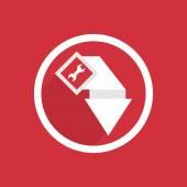 Car service pointer icon — Stock Vector
