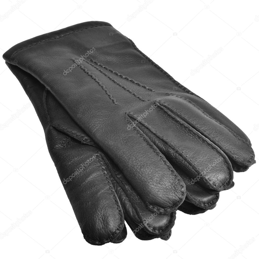 Black gloves mens - Black Men Deerskin Gloves Large Detailed Isolated Men S Fine Grain Deer Leather Glove Pair Macro Closeup Studio Shot Soft Textured Warm Winter Accessory