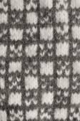Gray mitten background, grey white textured woolen mittens pattern, knitted warm wool winter fingerless gloves detail, large detailed vertical vintage texture macro closeup — Stock Photo