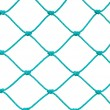 Soccer Football Goal Post Set Net Rope Detail, New Green Goalnet Netting Ropes Knots Pattern, Vertical Macro Closeup, Isolated Large Detailed Blank Empty Copy Space Background — Stock Photo #70223261