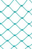 Soccer Football Goal Post Set Net Rope Detail, New Green Goalnet Netting Ropes Knots Pattern, Vertical Macro Closeup, Isolated Large Detailed Blank Empty Copy Space Background — Stock Photo