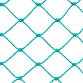 Soccer Football Goal Post Set Net Rope Detail, New Green Goalnet Netting Ropes Knots Pattern, Macro Closeup, Isolated Large Detailed Blank Empty Copy Space Background — Stock Photo