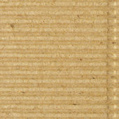 Corrugated cardboard goffer paper texture rough old recycled goffered textured blank empty grunge copy space background aged grungy macro closeup taupe brown tan yellow beige detail vintage pattern — Stock Photo