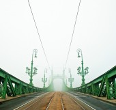 Liberty Bridge in Budapest, Hungary — Stock Photo