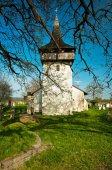 Eski kilise ile cementary — Stok fotoğraf