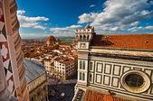 Vista aérea de la Plaza del Duomo — Foto de Stock