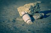 Amphora on beach — Stock Photo