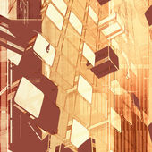 Geometrické oranžové pozadí — Stock fotografie