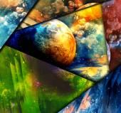 抽象空间背景 — 图库照片