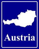 Silhouette map of Austria — Stock Vector