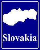 Silhouette map of Slovakia — Vetor de Stock