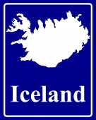 Silhouette map of Iceland — Stock Vector