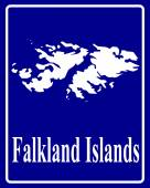 silhouette map of Falkland Islands — Stock Vector