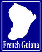 Silhouette map of French Guiana — Stock Vector