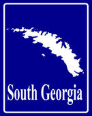 Silhouette map of South Georgia — Stock Vector