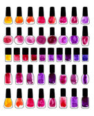 Set of watercolor painted nail polishes — Stock Vector